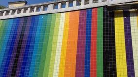 regnbågetegelplattor Royaltyfria Bilder