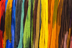 Regnbågetextilbakgrund Fotografering för Bildbyråer