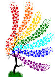 Regnbågeträd Royaltyfri Bild