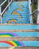 Regnbågetrappa Arkivbilder