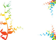 Regnbågeväxtpapper royaltyfri illustrationer