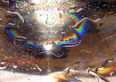 regnbågevatten för 2 droppar Royaltyfria Foton