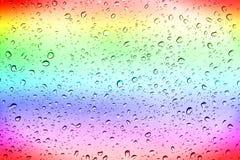 Regnbågewaterdrops Arkivfoto