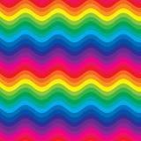 regnbågewaves royaltyfri illustrationer