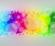 Regnbågsskimrande bubblor Royaltyfri Fotografi
