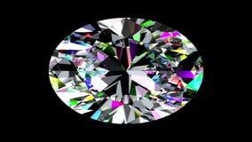 Regnbågsskimrande diamantoval kretsat Alfabetiskmatte stock video