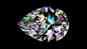 Regnbågsskimrande diamantpäron kretsat Alfabetiskmatte stock video