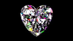 Regnbågsskimrande Diamond Heart kretsat lager videofilmer