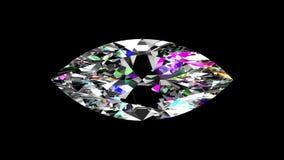 Regnbågsskimrande Diamond Marquise kretsat Alfabetiskmatte stock video
