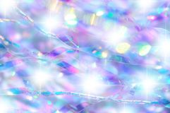 Regnbågsskimrande konfettibakgrund Arkivfoto