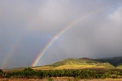 Regnbågar över Maui Royaltyfria Foton