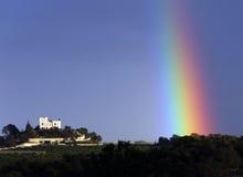 Regnbåge - Castillo de Montemar - Costa Blanca - Spanien Arkivbilder