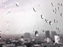 Regndroppe på fönstret Fotografering för Bildbyråer