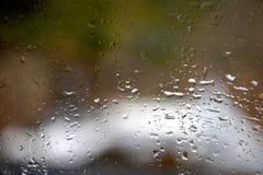 Regndroppe på fönster Fotografering för Bildbyråer