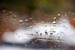 Regndroppe på fönster Royaltyfri Fotografi