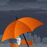 Regnen in der Stadt lizenzfreie abbildung