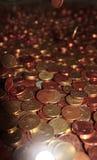 Regnen des europäischen Bargeldes Lizenzfreie Stockfotos