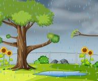 Regnen im Garten vektor abbildung