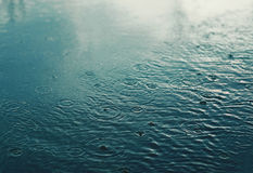 Regnen Sie, Herbsttag, städtische Szene, Wetter Stockfotos