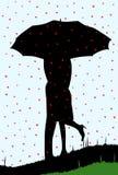 Regnen von Herzen Stockfotografie