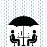 Regnen, wie üblich Stockfotografie
