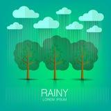 regnerisch lizenzfreie stockfotos