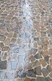 Regnerische nasse Palma Old Town-Straße Stockbild