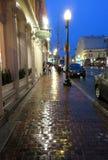 Regnerische Straße in Georgetown stockbilder