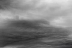 Regnerische Wolken. Lizenzfreies Stockfoto