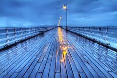 Regnerischer Shorncliffe Pier in HDR stockfotos