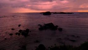 Regnerischer Sonnenuntergang in Galle in Sri Lanka lizenzfreies stockfoto