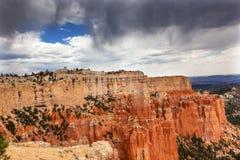 Regnerischer Sturm-Unglücksbote-Bryce Point Bryce Canyon National-Park Utah Stockbild