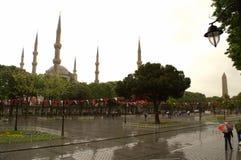 Regnerischer Tag Istanbul Stockbild