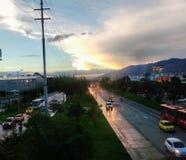 Regnerischer Tag Kolumbien Stockfotografie