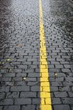 Regnerischer Tag - nasse Herbststraßen lizenzfreies stockbild