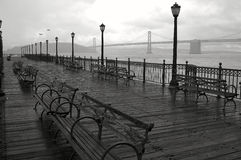 Regnerischer Tag in San Francisco. stockbild