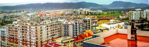 Regnerischer Tag in Setubal, Portugal lizenzfreies stockfoto