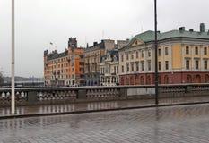 Regnerischer Tag in Stockholm Lizenzfreies Stockbild