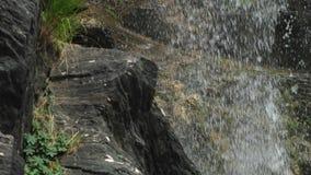 Regnerischer Wasserfall Lizenzfreie Stockbilder