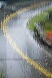 Regnerisches Fenster Lizenzfreie Stockfotografie