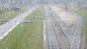 Regnerisches Fenster Stockbild