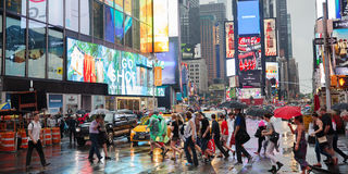 Regnerisches New York Stockfotos