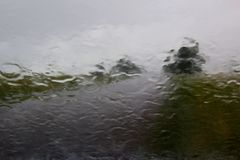 Regnerisches Wetter Stockfotografie
