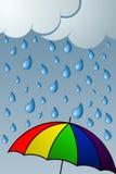 regnig dag vektor illustrationer
