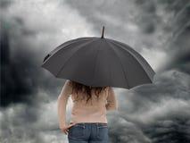 regnig dag Arkivbild