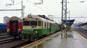 Regnig dag i öst av Slovakien arkivfoto