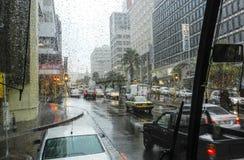 Regnig dag i Cape Town royaltyfri foto