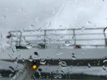 Regnig dag i ljudet Royaltyfri Fotografi