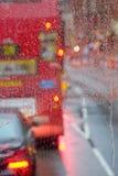 Regnig dag i London Arkivfoto