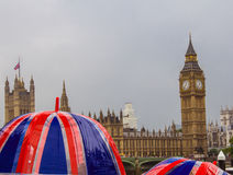 Regnig dag i London Royaltyfria Foton